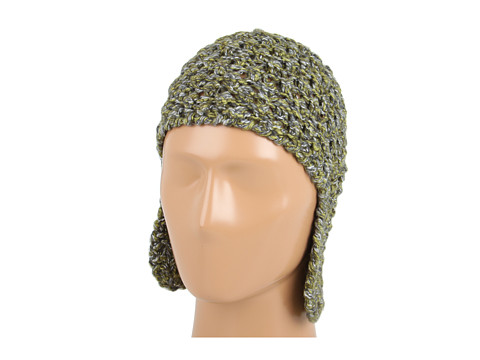 Palarii Echo Design - Tweed Acorn Stitch Hat - Olive Multi