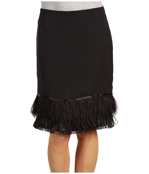 Fuste Anne Klein - Skirt w/ Feathers - Black