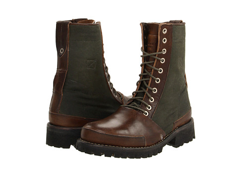 """Ghete Timberland BC - Tackhead 8\"""" Lace-up Boot - Dark Brown Olive Fabric"""