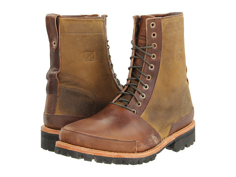 """Ghete Timberland BC - Tackhead 8\"""" Lace-up Boot - Brown/Tan Oiled Fabric"""