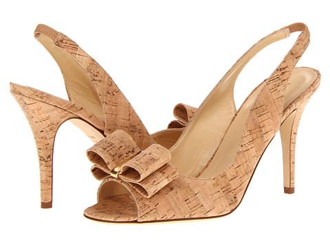 Pantofi Kate Spade New York - Celeste - Natural Cork Gold Specchio