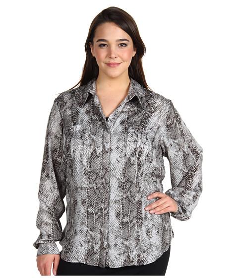 "Bluze Anne Klein - Plus Size Utility Shirt 27\"" - Black Combo"