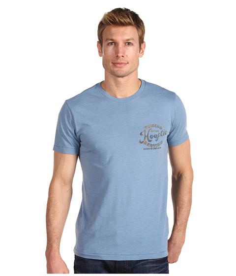 Tricouri Lucky Brand - Hooptie Burnout Tee - Laguna Blue