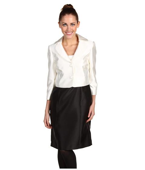 Rochii Elie Tahari - Petite Glenn 3/4 Sleeve Jacket Dress - Ivory/Black