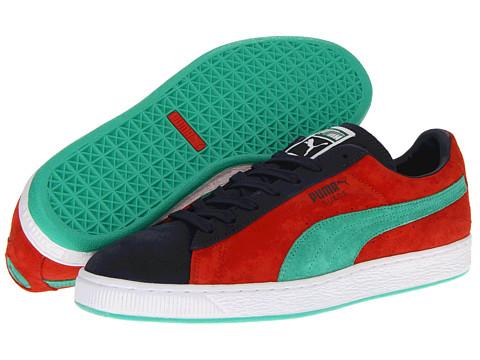 Adidasi PUMA - Suede Classic - Puma Red/New Navy/Mint Leaf