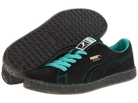 Adidasi PUMA - Suede Classic - Black/Greenlake