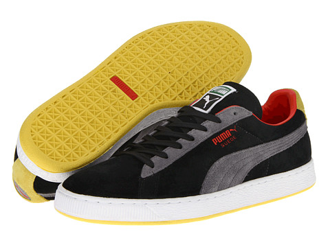 Adidasi PUMA - Suede Classic - Black/Quiet Shade/Blazing Yellow