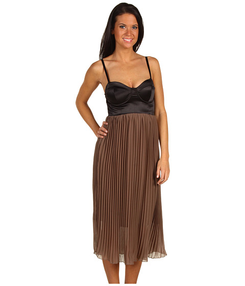 Rochii Type Z - Jemma Chiffon Dress - Black/Mocha