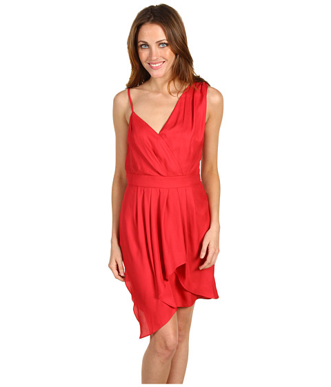 Rochii BCBGeneration - Shoulder Pleat Dress - Lipstick