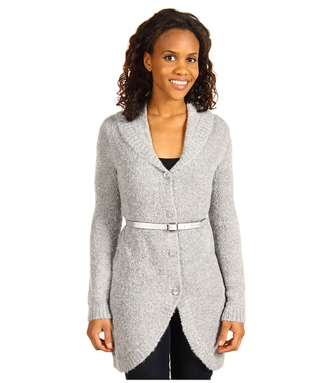 Bluze AK Anne Klein - Oversized Shawl Collar Overcoat - Light Charcoal