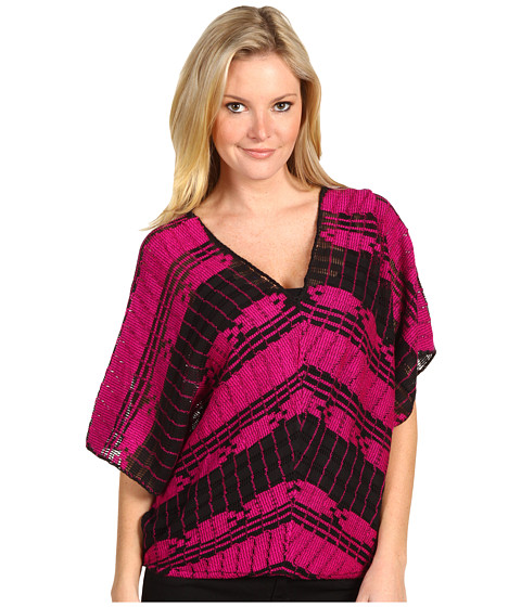 Bluze Free People - Weave Me Tee - Hot Pink Combo
