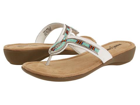 Sandale Minnetonka - Bisbee Thong - White Leather