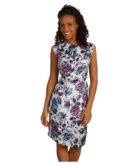 Rochii Anne Klein - Leaf Floral Sleeveless Dress - Multi