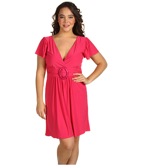 Rochii Christin Michaels - Plus Size Giselle Dress - Fuchsia
