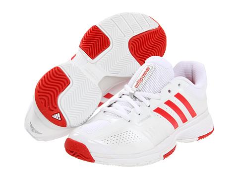 Adidasi adidas - adipowerâ⢠Barricade - Running White/Metallic Silver/Core Energy