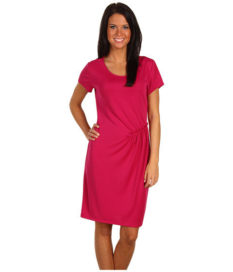 Rochii Kenneth Cole - Solid Drop Shoulder Scoop Neck Dress - Tulip Pink