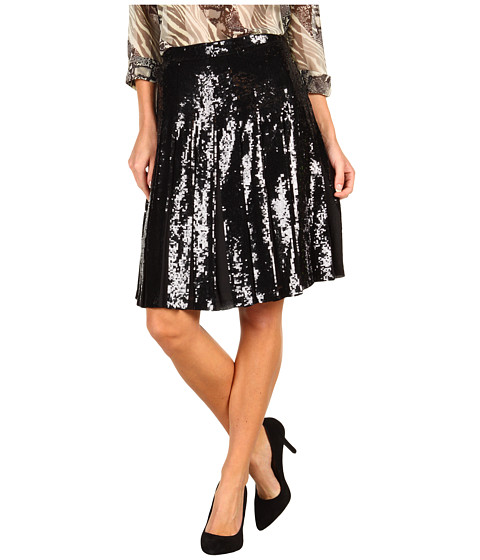 Fuste BCBGMAXAZRIA - Edna Sequin Skirt - Black Combo