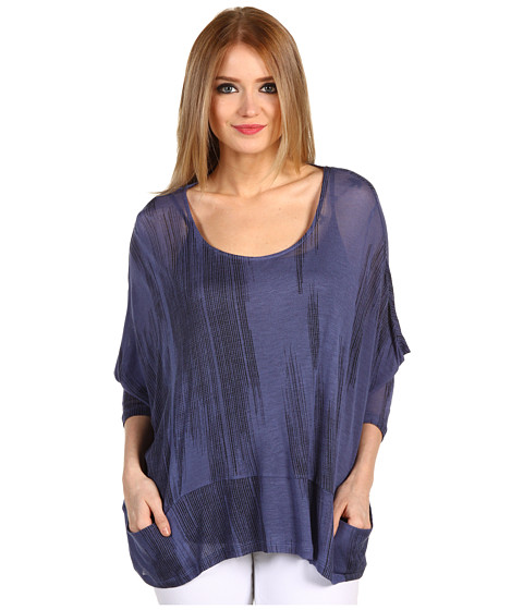 Bluze BCBGeneration - Oversized Pocket Top - Blue Smoke Combo