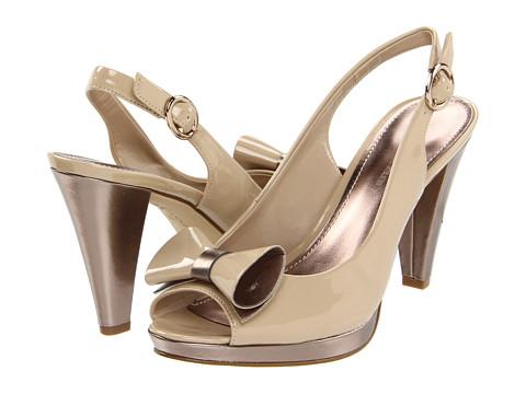 Pantofi Anne Klein - Elong - Natural/Bronze