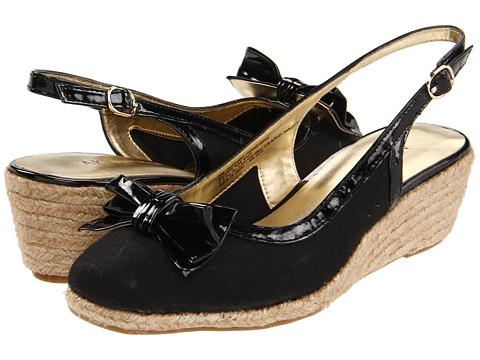 Pantofi Anne Klein - Gingery - Black Linen