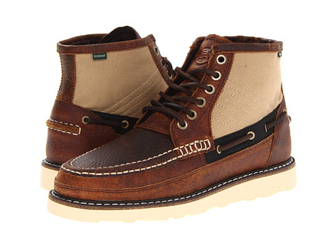 Ghete Element - Hampton Boot Vibram - Walnut Crazy Horse/Canvas