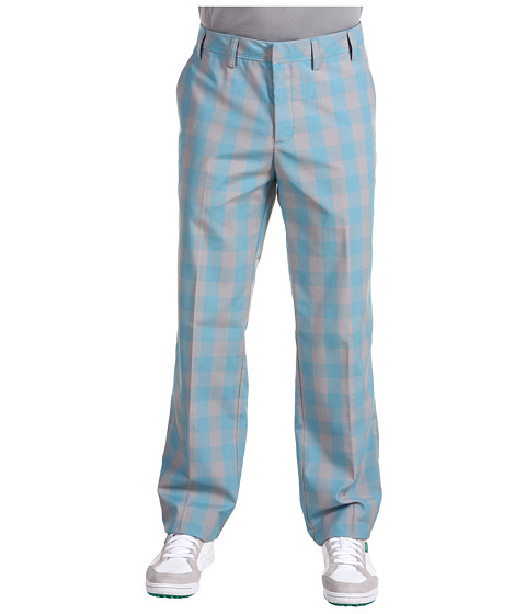 Pantaloni adidas Golf - Fashion Performance Plaid Pant - Mercury/Turquoise