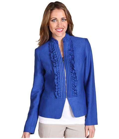 Sacouri Anne Klein - Novelty Kissing Front Blazer - Cobalt
