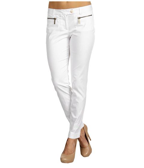 Pantaloni Michael Kors - Zip Pocket Ankle Pant - White