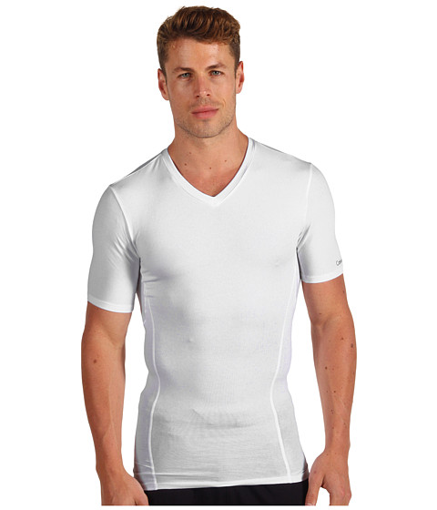 Lenjerie Calvin Klein - Core Sculpt Compression V-Neck T-Shirt - White