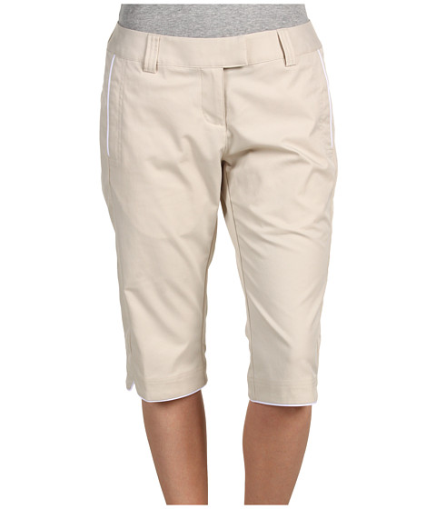 Pantaloni adidas Golf - ClimaLite Piped Capri - Ecru/White