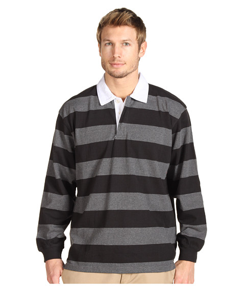 Bluze Fitzwell - Dave Striped Rugby Pullover - Black