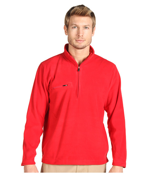 Bluze Fitzwell - Jamison 1/4 Zip Microfiber Pullover - Red