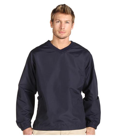 Bluze Fitzwell - Zachary V-Neck Microfiber Pullover - Navy