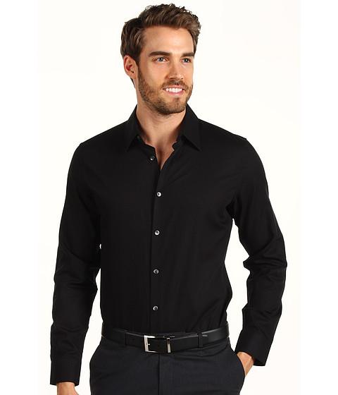 Tricouri Calvin Klein - L/S Chambray Twill Sport Shirt - Black Carbon