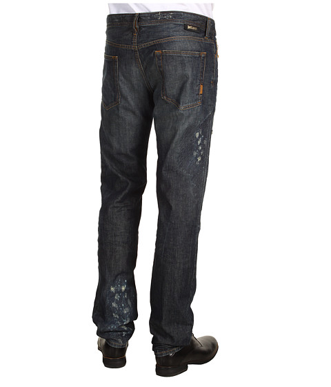 Blugi Just Cavalli - Stitched and Abraded Jean - Blue