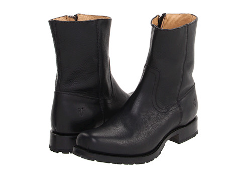 Ghete Frye - Heath Inside Zip - Black Full Grain Leather