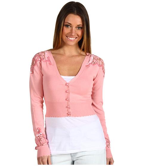 Bluze Betsey Johnson - Lace Novelty Cropped Cardi - Blush