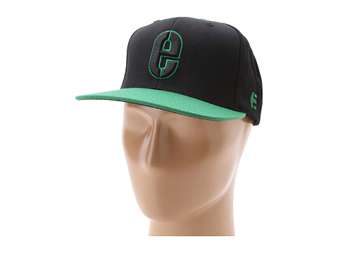 Sepci etnies - Rookie Snapback Hat - Black/Green
