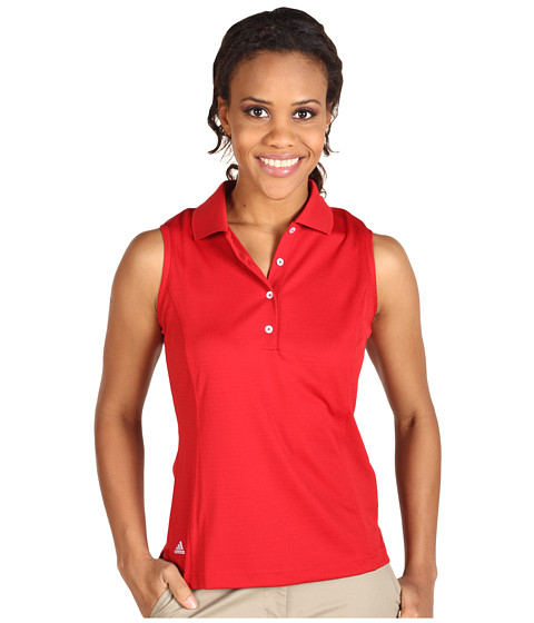 Bluze adidas Golf - ClimaLite Textured S/L Solid Polo - University Red