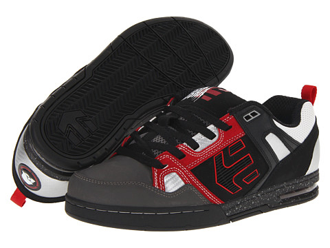 Adidasi etnies - Kontra x Metal Mulisha - Black/Red/Grey (Action/Nubuck Leather)