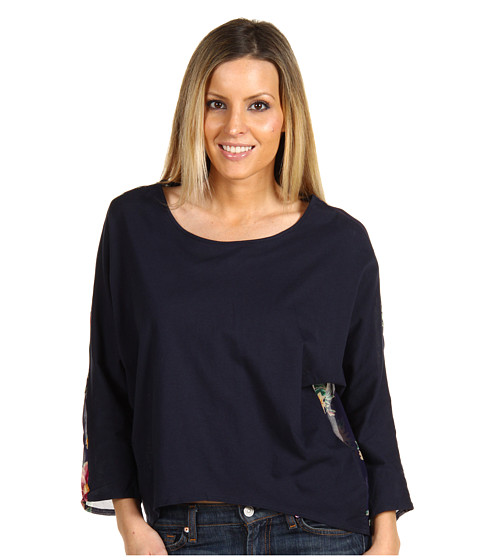 Bluze Betsey Johnson - Tulip Print Biggie Top - Navy