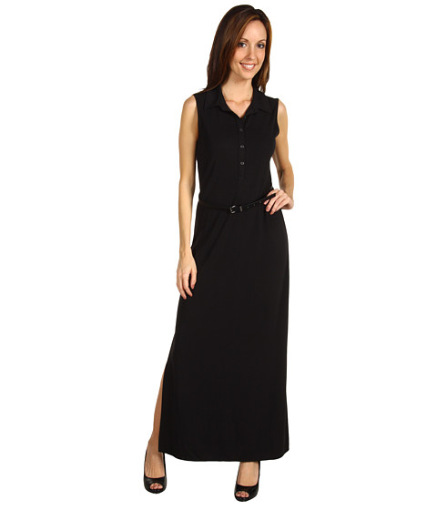Rochii Anne Klein - Maxi Shirtdress - Black