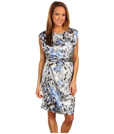 Rochii Anne Klein - Modern Camouflage Print Dress - Cobalt Multi