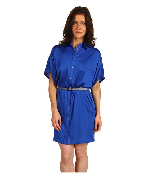 Rochii AK Anne Klein - Petite Shirtdress - Cobalt