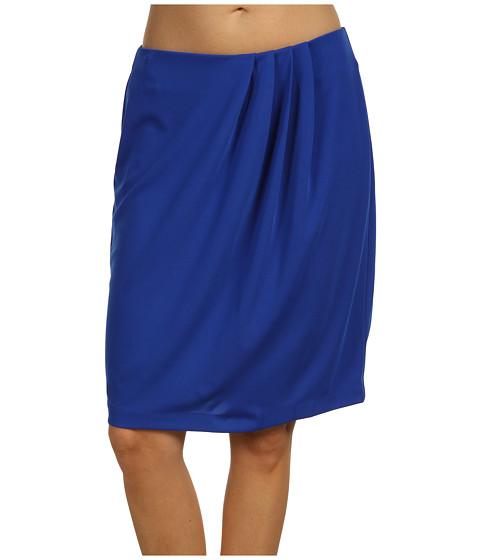Fuste Anne Klein - Asymmetrical Pleated Knit Skirt - Cobalt