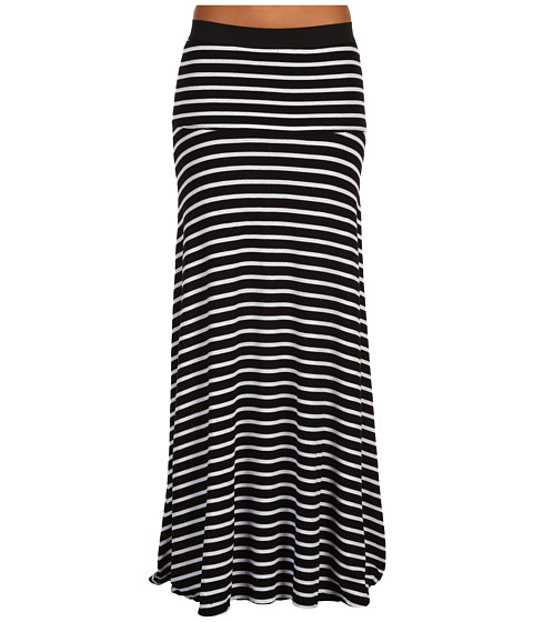 Fuste BCBGMAXAZRIA - Striped Karolin Maxi Skirt - Black-White Combo