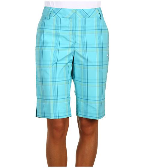 Pantaloni PUMA - Golf Plaid Tech Shorts - Blue Radiance