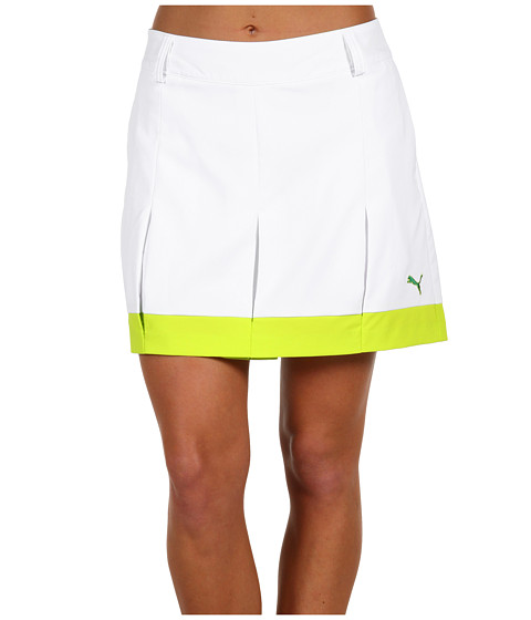 Pantaloni PUMA - Golf Pleated Tech Skort - White
