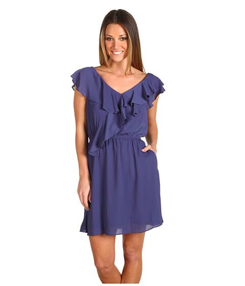 Rochii BCBGeneration - Double Ruffle Sleeveless Dress - Smoky Navy