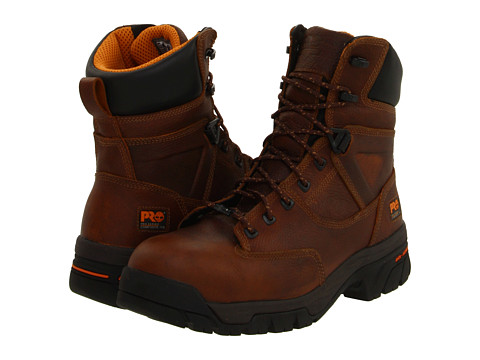"Ghete Timberland - Helix 8\"" Waterproof Composite Toe - Brown"
